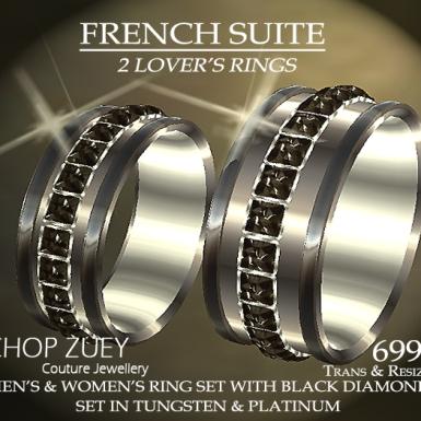 Ring Set in Black Diamonds