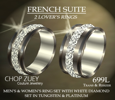 Ring Set in White Diamonds