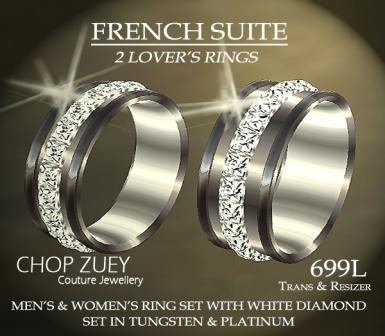 Ring Set in White Diamonds