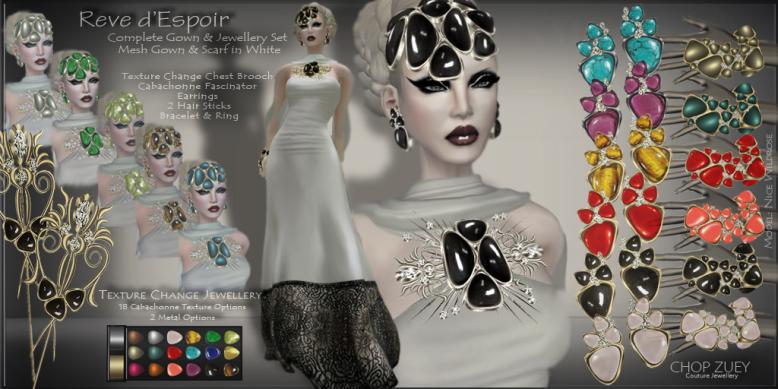 ChopZuey-Reve d'Espoir White Gown-JewellerySet
