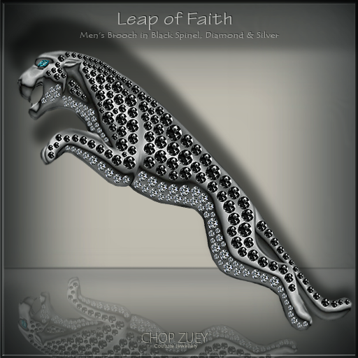 Leap of Faith Mens Brooch