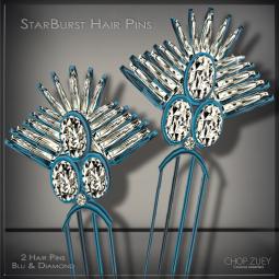 StarburstHairPinBlu