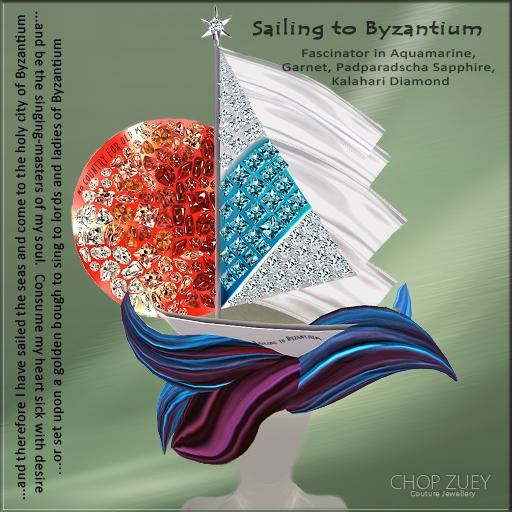 Sailing to Byzantium Fascinator Ad