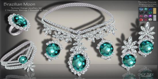 Brazilian Moon Texture Change Set -Emerald