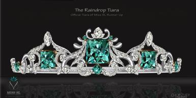 The Raindrop Tiara - MissSLRunnerUp Tiara