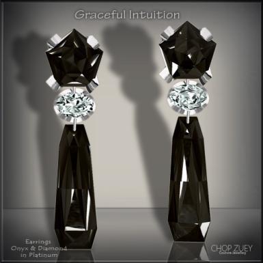 Graceful Intuition Blk Earrings