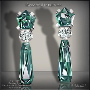 Graceful Intuition Blu Earrings