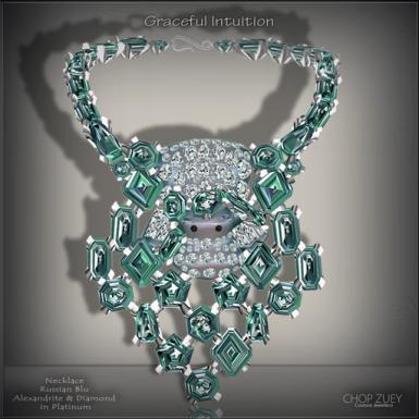 Graceful Intuition Blu Necklace