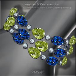 Laughter&Resurrection-Peacock Blu Bracelets