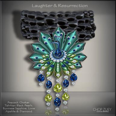 Laughter&Resurrection-Peacock Blu Choker