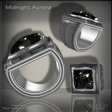 Midnight Aurora Mens Ring