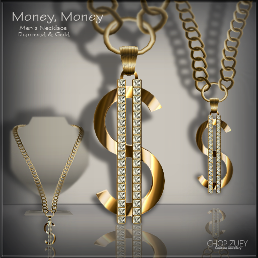 Money Money Mens Necklace