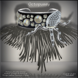 Octopussy Blk Necklace