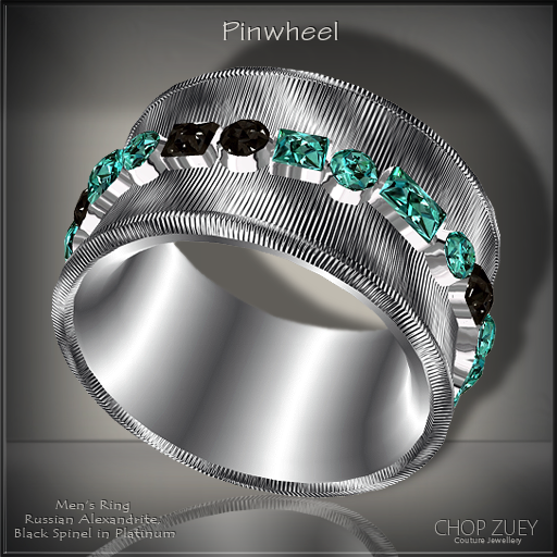 Pinwheel Mens Ring Blk