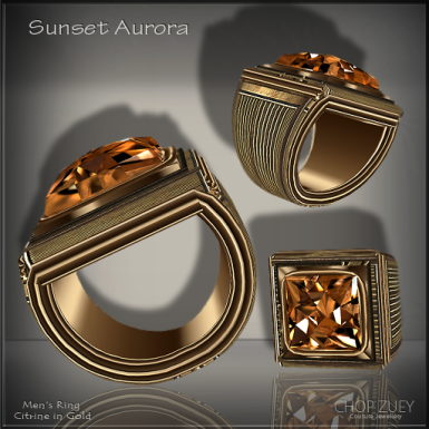 Sunset Aurora Mens Ring