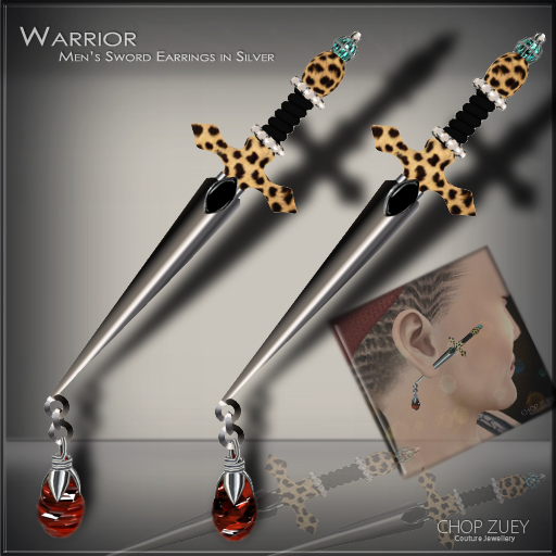 Warrior Mens Earrings