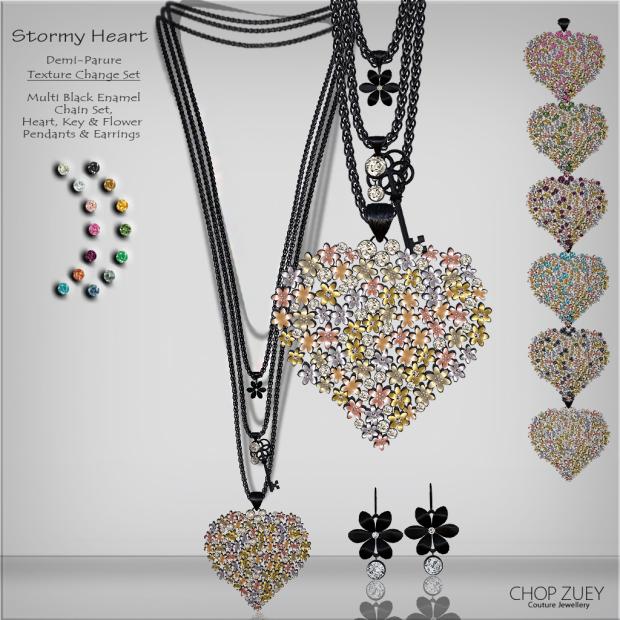 Stormy Heart Demi-Parure Texture Change