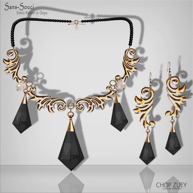 Chop Zuey - Sans-Souce Demi Parure Onyx