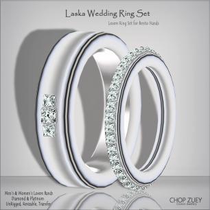 Laska Plt Lovers Ring Set_Bento