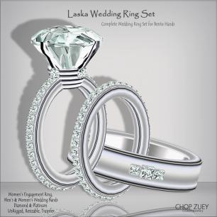 Laska Plt Wedding Ring Set_Bento