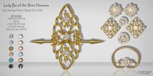 La Ba of the Nine Heavens - Gld - Face Piercings Texture Change